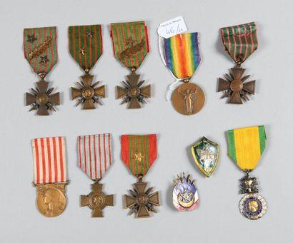 Cinq Croix de Guerre: 1914/1915, 1914/1916...