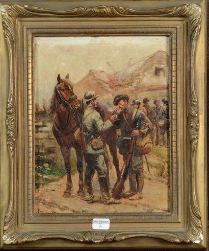 Paul Perboyre (1851/1929), huile sur panneau...
