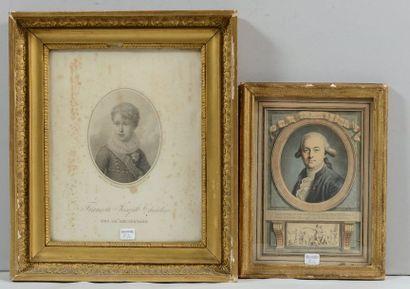 Deux gravures: Portrait de François-Joseph...
