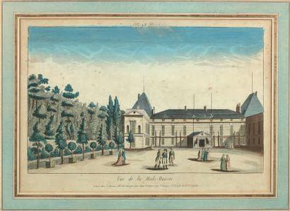 * «Vue de la Male-Maison», gravure aquarellée,...