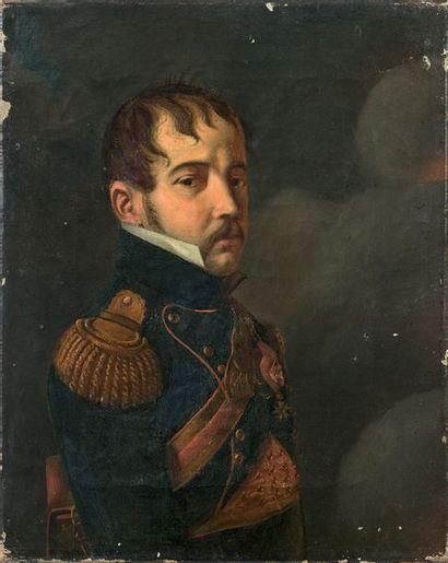 Portrait en buste de trois quarts du Baron...