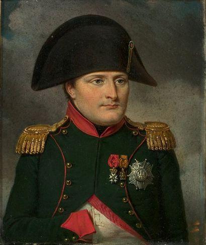 Portrait de l'Empereur Napoléon 1er en tenue...