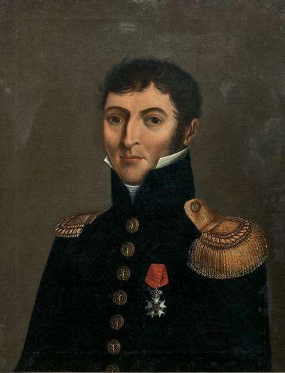 Portrait d'un officier d'infanterie, commandant...