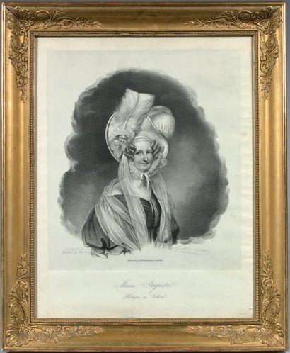* Portrait de la Princesse de Saxe Maria-Augusta...