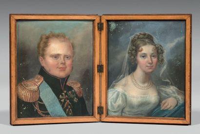 Portrait en diptyque du Grand-duc Constantin...