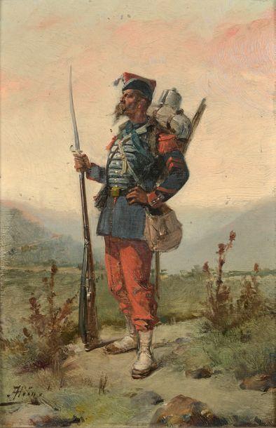 Portrait d'un grenadier de la garde impériale...