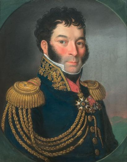Beau portrait d'un général de brigade, probablement...
