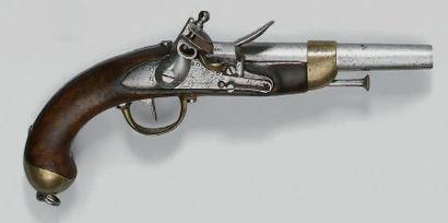 Pistolet de cavalerie à silex modèle 1822,...