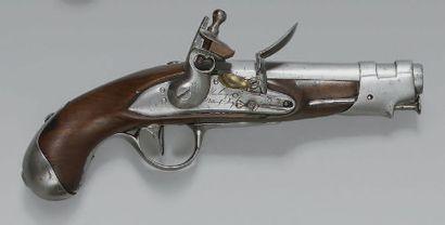 Pistolet de gendarmerie à silex modèle an...