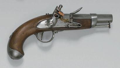 Pistolet de gendarmerie à silex modèle 1822,...