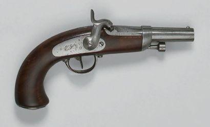 Pistolet d'officier de gendarmerie à percussion...