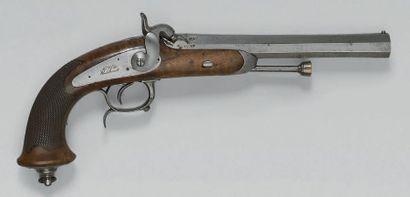 Pistolet d'officier de cavalerie à percussion...