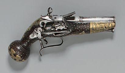 Pistolet napolitain à silex à la miquelet,...
