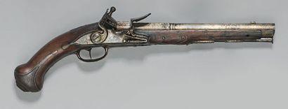 Pistolet à silex, canon à deux registres...