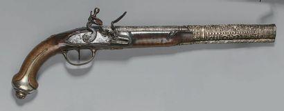 Grand pistolet à silex à l'orientale pour...