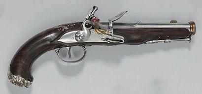 Pistolet à silex d'officier probablement...