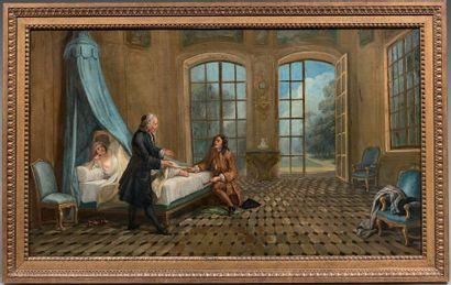 Ecole française de la fin du XVIIIème siècle, suiveur de Nicolas LANCRET
