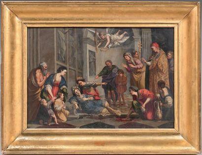 Attribué à Jean LE CLERC, d'après le DOMINIQUIN (1586 - 1633)