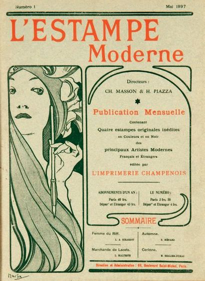[AFFICHES]. L'Estampe moderne. Paris, Imprimerie...