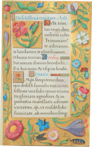 [PONTIFICAL & LIVRE de PRIÈRES DU «MAÎTRE DE CLAUDE DE FRANCE»]. Manuscrit tourangeau...