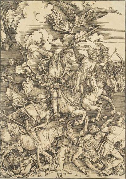 Albrecht DÜRER (1471-1528) [d'après]. Les Cavaliers de l'Apocalypse. Eau-forte d'après...