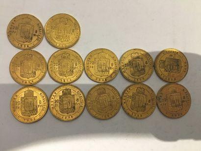 12 pièces de 20 Francs Magyar