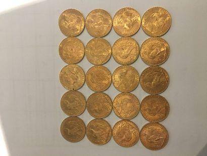 20 pièces de 20 Francs or