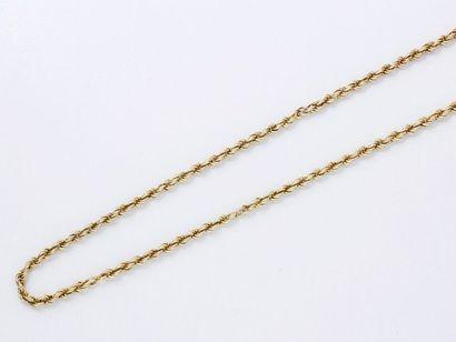 Long collier en or 750 millièmes, maille...