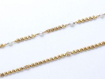 Lot en or 750 millièmes composé de 2 bracelets...