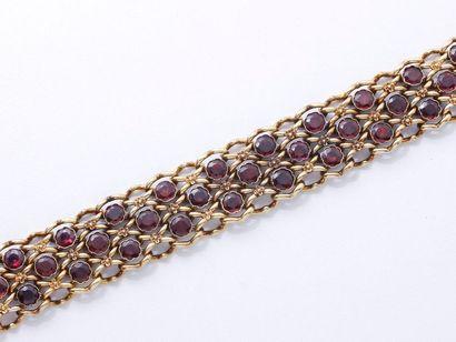 Bracelet ruban en or 750 millièmes, maille...