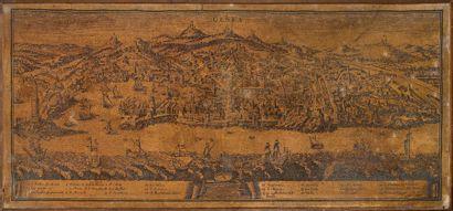Vue de Gênes Procédé sur toile 81 x 178 ...