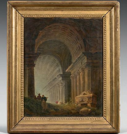 Ecole FRANCAISE vers 1800, entourage d'Hubert ROBERT