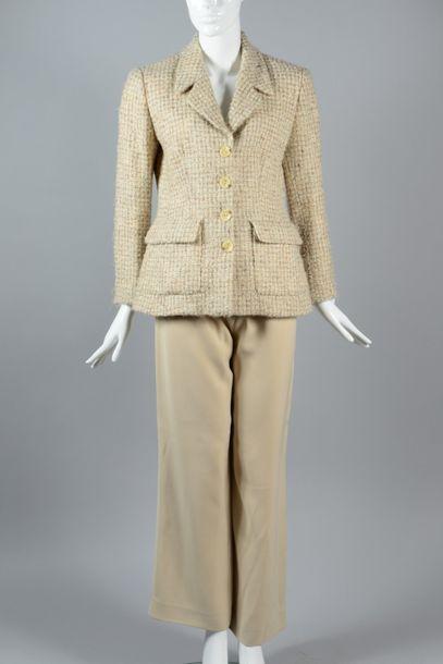KENZO  Ensemble composé d'une veste en tweed...