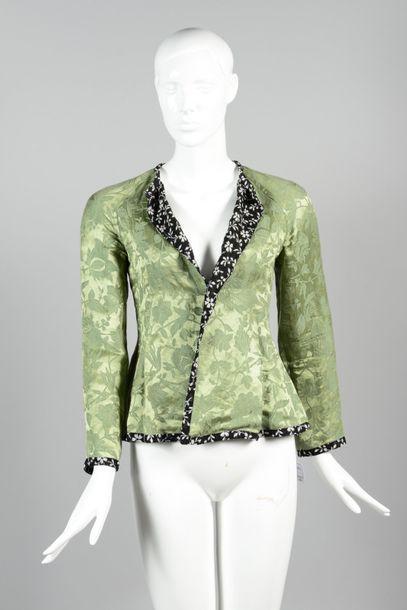 ETRO  Veste damassée à motif floral vert,...