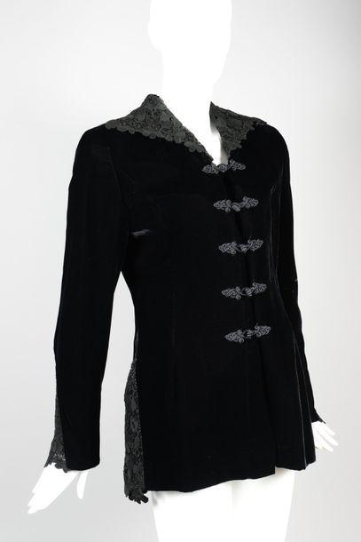 VALENTINO Night  Blazer zippé en velours...
