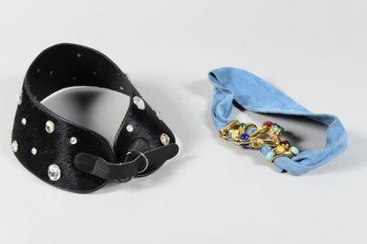 Louis CHAUMET, Anonyme  Lot de deux ceintures...
