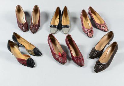 DALCO  Lot composé de six paires d'escarpins...