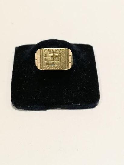 Chevalière en or 750°/°° gravée d'initiales...