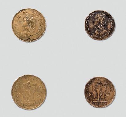 Deux rares monnaies, médailles d'essai en...
