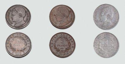 Onze rares monnaies d'essai avec le profil...