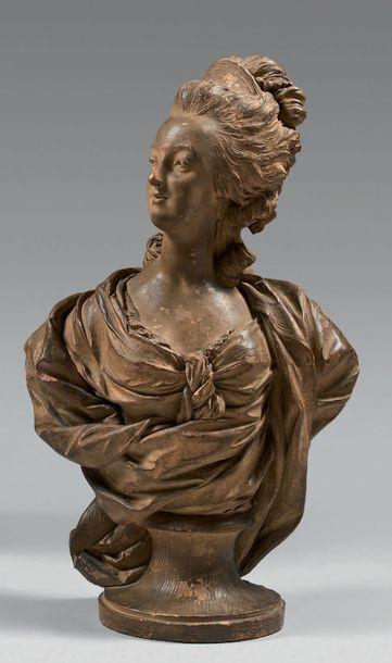 Entourage de Louis Simon BOIZOT (1743-1809) Marie-Antoinette, reine de France Buste...