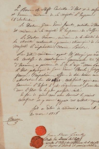 [NAPOLÉON II (1811-1832) Roi de Rome et duc de REICHSTADT, l'Aiglon, fils de Napoléon Ier]