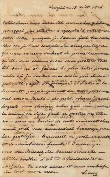 MARIE-LOUISE (1791-1847) Impératrice; et Adam Albert, comte de NEIPPERG (1775-1829) son second mari