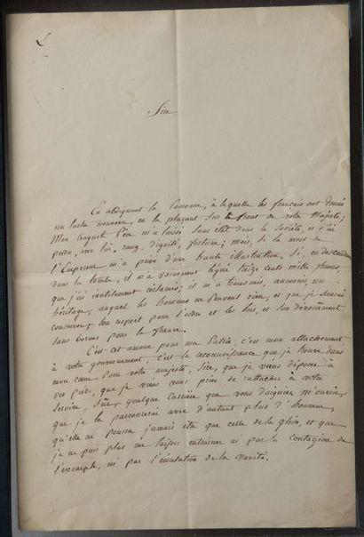 Charles, comte LÉON (1806-1881) fils naturel de Napoléon et d'Eléonore Denuelle de La Plaigne