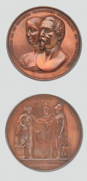 Grande médaille en bronze: Portraits en buste...