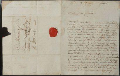 """PRISE DE LA BASTILLE. L.A. et L.A.S. """"Frechot"""", Paris 17 et 19 juillet 1789, à son..."""