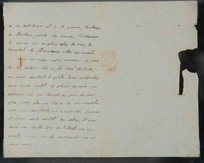ÉLISABETH DE FRANCE, dite MADAME ÉLISABETH (1761-1794) soeur de Louis XVI L.A., 4...