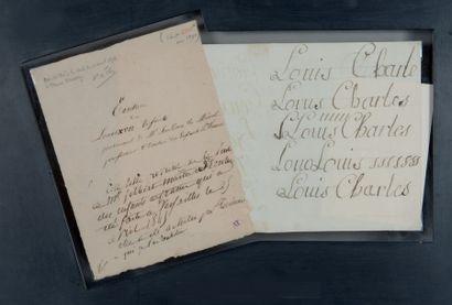 Louis-Charles de Bourbon, duc de Normandie, LOUIS XVII (1785-1795) fils de Louis XVI et de Marie-Ant