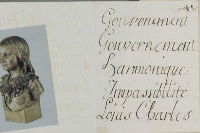 Louis-Charles de Bourbon, duc de Normandie, LOUIS XVII (1785-1795) fils de Louis...