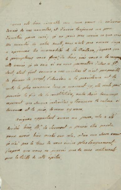 ÉLISABETH DE FRANCE, dite MADAME ÉLISABETH (1761-1794) fille du Dauphin Louis, petite-fille...